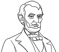 abraham lincoln president abe coloring pages