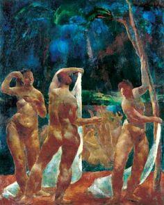 Aba-Novák, Vilmos (1894-1941) Bathing women, 1922-23