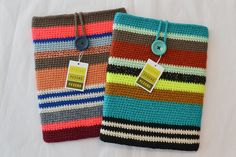 crochet iPad sleeves/ Could use the pattern I did for Ilse to make more colors