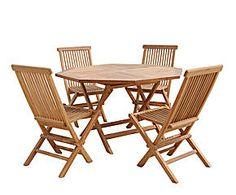Set de mesa octogonal de teca