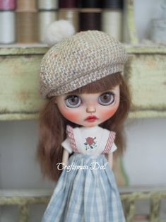 Doll Accessories, Blythe Dolls, Art Dolls, My Design, Winter Hats, Crochet Hats, Disney Princess, Cute, Handmade