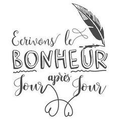 🌟Tante S!fr@ loves this📌🌟 Le bonheur jour après jour Positive Mind, Positive Attitude, Positive Vibes, Love Stickers, Printable Stickers, Stickers Citation, Poem A Day, Quote Citation, French Quotes