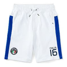 Italia Cotton Athletic Short - Boys 6 - 14 years Shorts - Ralph Lauren UK