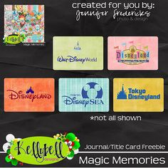 Free Magic Memories Title Cards from Kellybell Designs
