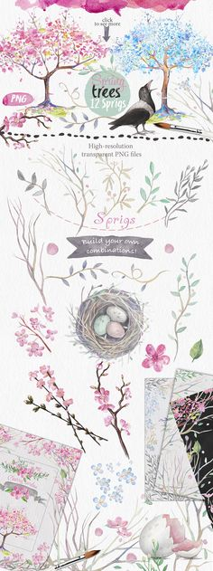 With more than 70 PNG and 36 Psd file's with watercolor element's and backgrounds, illustrations, pre-made templates, post-cards designs, wreaths and seamless patterns, this bundle is ready for any your design projects!