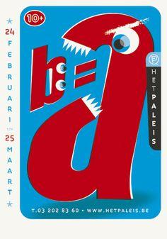 'B=A' [2007] Rob Marcelis (Genomineerd 'Power of Print - Beste culturele affiche seizoen 2006/2007')