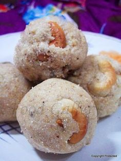 Rava laddu, Rava ladoo, Semolina balls -- A quick and easy traditional #sweet prepared during festivals, especially #Diwali.  Recipe:  http://indianrecipegalleri.blogspot.in/2014/01/rava-ladoo-rava-laddu-without-milk.html For Regular updates, visit/like:  https://www.facebook.com/indianrecipegalleri #foodgallery #Indiansweets #sweetsrecipes #Diwalisweets #ladoo #laddu #desserts #Indiandesserts