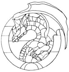 Dragon pattern free sample from Stained Glass Patterns by
