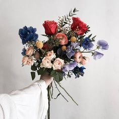 Loving all the colors x textures in this bouquet Floral Bouquets, Wedding Bouquets, Wedding Flowers, Floral Wreath, My Flower, Wild Flowers, Beautiful Flowers, Bunch Of Flowers, Spring Flowers