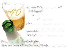 Imprimibles para fiesta de 40 años 5.