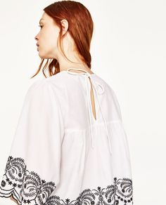 EMBROIDERED POPLIN BLOUSE - Available in more colours