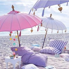 Beach Party Essentials - don't forget the sun brolly and the comfortable cushions !! #beachparty