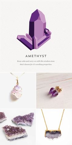 Accessorize your look with a purple amethyst jewelry.