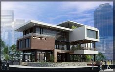 Fachada comercial ou residencial? ~ Great pin! For Oahu architectural design visit http://ownerbuiltdesign.com