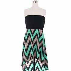 Hi Lo zig zag dress by LuckyYouBoutiqueEtsy on Etsy, $35.00