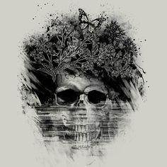 skull t shirt design