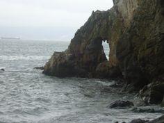 Acercamiento a Roquerio costero en caleta tumbes