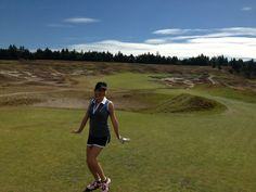 Golfing at Chambers Bay Golf Course