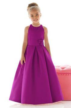 Dessy Fl4022 Flower Girl Dress in Purple
