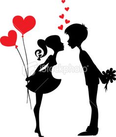 silhouette+couple | Silhouette of a couple in love Royalty Free Stock Vector Art ...