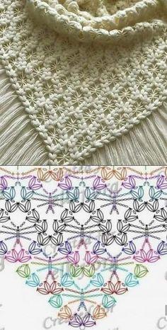 up-to-date Totally Free Crochet poncho dress Suggestions Der Neuen : Chinese Japanse linten – The Collection 1 – Modnoe Vyazanie Crochet Shawl Diagram, Crochet Poncho, Crochet Chart, Crochet Scarves, Crochet Motif, Crochet Lace, Free Crochet, Crochet Doilies, Crochet Flowers