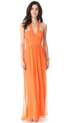 another beautiful idea for a bridesmaids dress or just a dress to attend a beach wedding. walking on sunshine:-) BCBGMAXAZRIA Starr Gown $368