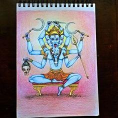 """""""Kali maa"""" (lápis de cor e caneta técnica s/papel) #art #arte #desenho #dibujo…"""