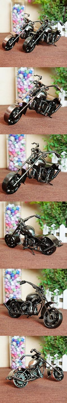 HOT! Retro Iron Motorcycle Model Ornaments Vintage Metal Motorbike Crafts Home Decor Xmas Gift Kids Gift Free Shipping Two Color $28.75