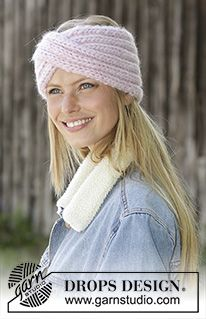 Weekender / DROPS - Knitted head band in DROPS Eskimo. The piece is worked in rib with a cable mid front. Design stirnband Weekender / DROPS - Free knitting patterns by DROPS Design Knitting Patterns Free, Free Knitting, Crochet Patterns, Drops Design, Knitted Headband Free Pattern, Big Yarn, Knit Crochet, Crochet Hats, Winter Headbands