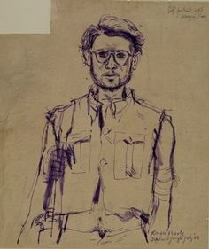 Ronald Searle Self Portrait, Kanyu, Thailand Jungle, July 1943 Ronald Searle became a prisoner of the Japanese in 1942 after the fall of Singapore. He was held in Changi POW camp before being sent to the Thailand–Burma Railway. During his 3 years of captivity, Searle sketched in secret. Searle used the corners of the drawings as cigarette paper, later explaining 'However foul and acrid the result it helped to hold off the constant clamouring of the stomach to be sent down something –…