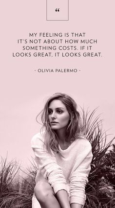 It's Fashion Friday and at Liquorish we love great fashion advice from people with great style like Olivia Palermo! Estilo Olivia Palermo, Olivia Palermo Lookbook, Fashion Quotes, Fashion Advice, Fashion Bible, Estilo Cool, Le Jolie, Looks Style, Kate Moss