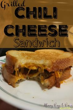 Grilled chili cheese sandwich is a great way to liven up your leftover chili