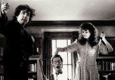 Tim Burton on the set of Beetlejuice