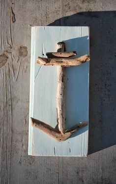 Driftwood Anchor on Reclaimed Wood by My Honeypickles on Etsy wood projects projects diy projects for beginners projects ideas projects plans Driftwood Projects, Driftwood Art, Diy Projects, Beach Crafts, Diy Crafts, Beach House Decor, Home Decor, Beach Art, Beach Themes