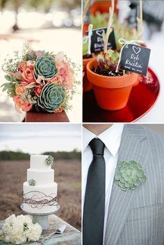 Succulent Boutonnieres | Wedding Planning Ideas | WeddingWire: The Blog