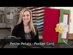 ▶ Petite Petals Pocket Card - with Sale-A-Bration stamp sets - YouTube