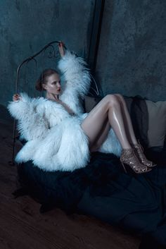 Dark Visions – model Maja Salamon appears in this moody spread wearing head-to-toe Alaia for Viva! Moda.