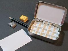 MINI WATERCOLOR PALETTE kit ~ ready to fill ~ portable ~ compact ~ travel sketch ~ Altoids style tin