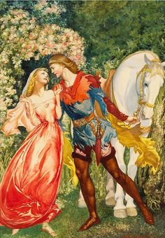 Illustration by Artist Willy Pogány Illustrations, Book Illustration, Botanical Illustration, Romance Art, Templer, Vintage Fairies, Fairytale Art, Pre Raphaelite, Faeries