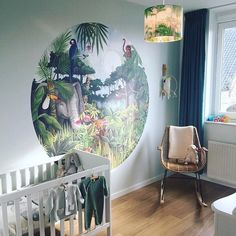 6 hottest baby nursery decor trends and ideas for 2019 into Ideas for boys, girls bedroom designs by The Baby Hamper Company Boys Jungle Bedroom, Jungle Theme Rooms, Boys Bedroom Themes, Jungle Room, Baby Bedroom, Nursery Themes, Jungle Book Nursery, Themed Rooms, Nursery Ideas