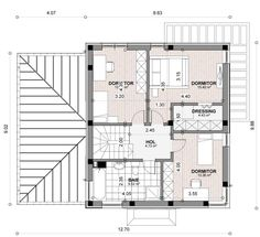 Case moderne cu etaj. Locuinte de vis pana in 200 metri patrati - Case practice Two Story House Plans, Two Story Homes, Second Story, Floor Plans, How To Plan, Trendy Tree, Houses, Two Story Houses, Floor Plan Drawing