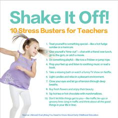 "Feeling stressed? ""Shake It Off!"" with these 10 #stressbusters for #teachers! http://buff.ly/1xeHH9h #edchat #stress #ShakeItOff"