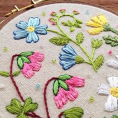 I'm working on a couple of projects at the moment which I can't share photos of just yet, so here's a #throwback to a little wildflower embroidery which sold recently I loved working on this natural coloured linen blend fabric, I must stitch something else on it soon #embroidery #handembroidery #flowerembroidery #wildflowerembroidery #wildflowers #dmcembroidery #dmcthread #dmcfloss #bordado #broderie #stickerei #hoopart #embroideryhoopart #handmade