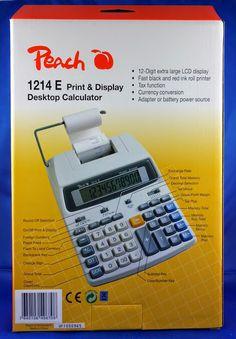 Produkttestseite von Heike: Produkttest : Peach druckender Tischrechner - PR67... #Produkttest #sponsored