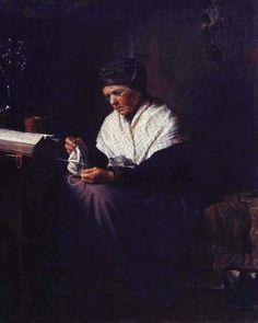 Kirill Lemokh  Мать художника Крамского за вязанием