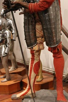 Bartlmä Bon of Riva Curiass and attire Made in Prague ca 1560 Schloss Ambrass, Innsbruck Wien kunsthistorisches museum, inv Nr A 634  Photo/info; M. McNealy  2,6 m tall wooden mannequin with landsknecht attire is original to the 16th century. It stands now, as it stood under Archduke Ferdinand's time. The armour most likely made in court workshop in Prague founded by Ferdinand II. Little known about Bartlmä, except that he accompanied Ferdinand's nephews to the famous tournament in Vienna…