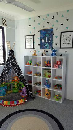 Kids Bedroom Kmart kmart hack, the 4 tier shelf. the colour is dulux ratu. | my own