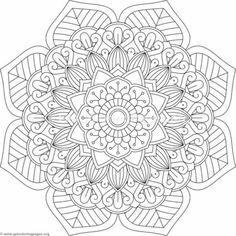 Flower Mandala – GetColoringPages.org