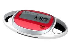 HAPTIME YGH715 Red LCD Heart Rate Monitor Pedometer Step Calorie Counter 3D Digital Sport Pedometer With Pulse Reader (Red). Step Counter/Calories/Distance Pedometer Function. Simple Pulse Detection: Place Thumbs Over Contact Plates. Power source: DC 3V(CR2032 Battery*1PC). Dimension: 75*40*16mm. Parcel Include: Pedometer x 1 User Manual x 1.