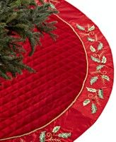Holiday Lane Christmas Tree Skirt, Holly
